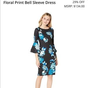 Floral Blue Calvin Klein Dress